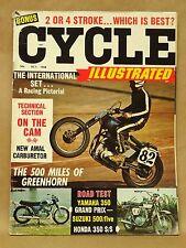 Vtg October 1968 Cycle Illustrated Magazine Honda 350 Suzuki 500 Yamaha 350