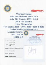 Virender Sehwag India Test Cricketer 2001-2013 Original Autograph