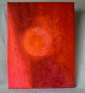 Original Painting - Hidden - Vedic Art Acrylic Canvas Signed 35cmx46cm