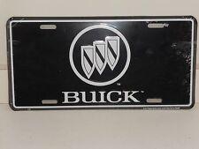 BUICK TRI-SHEILD LOGO ALUMINUM LICENSE PLATE  BLACK  & WHITE  MADE IN USA REGAL