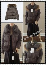 Rare! NWT $199 ZARA 80% DUCK DOWN JACKET WITH FUR COLLAR PUFFER COAT S M