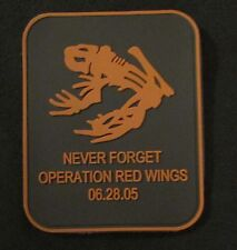 DEVGRU NAVY SEAL FROG NEVER FORGET OPERATION RED WINGS PVC BRONZE VELCRO®  PATCH