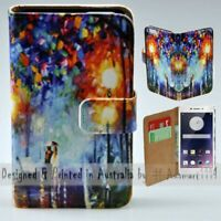 For OPPO Series - Lamp Post Lovers Theme Print Wallet Mobile Phone Case Cover