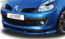 RDX Frontspoiler VARIO-X für RENAULT Clio 3 Phase 1 (nicht RS)