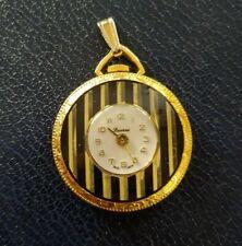 Vintage Lucerne Swiss Art Deco Hand-Winding Necklace Pendant Pocket Watch workin
