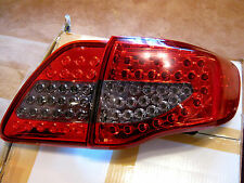 2008 09 2010 2011 Toyota Corolla Altis LED Tail Light Rear Lamps Red Black Pair