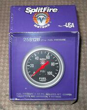 Universal splitfire performance meter fuel pressure gauge, black, (67mm) 25812B
