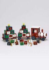 Festive en bois traditionnel de Noël de l'Avent Calendrier train 46 cm