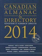 Canadian Almanac & Directory, 2014 (Canadian Almanac and Directory)-ExLibrary