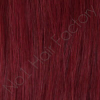 "1 x 18 Inches Long 18"" Clip In 100% Human Hair Extensions Dark Burgundy 99j#"