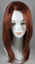 Long Red Auburn Straight Wig/Wigs w/ Monofilament top - 100% Kanekalon Fiber