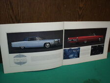 CADILLAC 1967  CATALOGUE PUBLICITAIRE COULEUR D ORIGINE