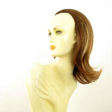 Media cabeza,demi-perruque 40cm castaño cobrizo con mechas rubio claro ref 018