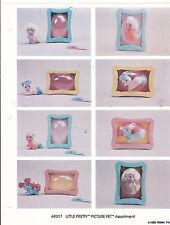 VINTAGE AD SHEET #3279 - 1990 MATTEL LITTLE PRETTY PICTURE PET TOYS