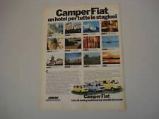 advertising Pubblicità 1979 CAMPER FIAT