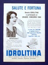 A567-Advertising Pubblicità-1960-IDROLITINA - PER ACQUA