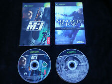 LOT 2 JEUX Microsoft XBOX : MISSION IMPOSSIBLE + MINORITY REPORT (complet)