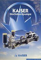 Kaiser Hochdruckpumpe KDU Prospekt 2001 Kanalreinigung Industriereinigung Pumpe
