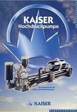 Prospekt Kaiser Hochdruckpumpe KDU Kanalreinigung Industriereinigung 2001 Pumpe