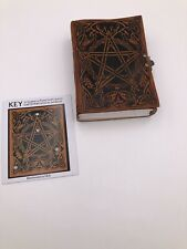 Key Earth Pentacle journal sketch book Handmade Leather Jen Delyth Nice Gift