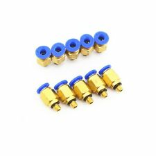 10Pcs pneumatic 6MM OD Tube x M5 Male Straight  AIR HOSE FITTING PC6-M5