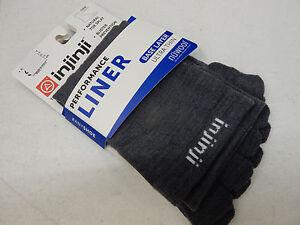 Injinji Liner Base Layer Nuwool Ultra Thin Crew Charcoal Size M