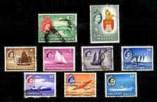 Singapore Malaya stamps 1948 KGV1, 1955 QE11 Used