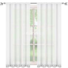 Vorhang Gardine Fenstergardine Voile transparent Strassbordüre Store Kräuselband