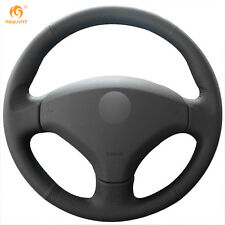 Black Artificial Leather Steering Wheel Cover for Old Peugeot 408 Peugeot 308