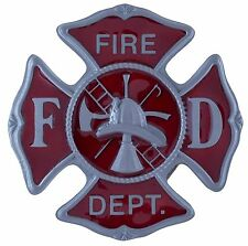 Fire Department -  3D Colored Enamel Belt Buckle - BRAND NEW!