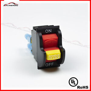 Dual Voltage TOGGLE SAFETY SWITCH W/KEY 20A 125/250V DELTA 489105-00Table Saw UL