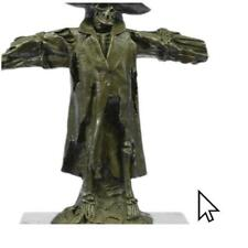 Signed Original Patou Chained Caribbean Pirate Skeleton Bronze Sculpture BM