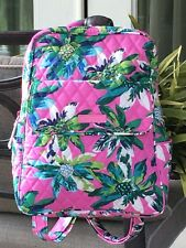 VERA BRADLEY SMALL BACKPACK SCHOOL BOOK BAG TRAVEL TOTE $98 TROPICAL PARADISE