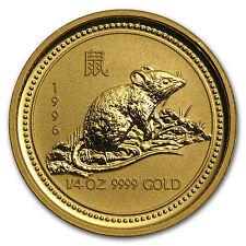 1996 Australia 1/4 oz Gold Lunar Rat (Series I) - SKU #9008