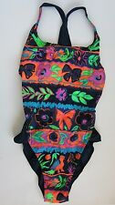 VINTAGE 80s-90s NWOT Arena High-Hip Leg One Piece Swimsuit SZ 4