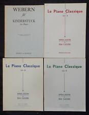 Lot (n°22) Partitions x4 recueils (POUR PIANO) LE PIANO CLASSIQUE + Kinderstück
