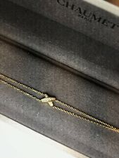 Auth Chaumet Paris Premiers Liens 18K Gold Brilliant Cut Diamond Bracelet