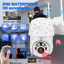 US WiFi Camera IR-CUT HD IP Wireless 1080P CCTV  Waterproof Outdoor PTZ Security