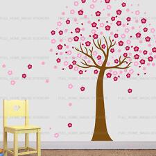 Enorme PINK CHERRY BLOSSOM Fiori Albero Adesivi Da Parete Arte Murale Carta da parati bambini