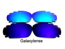 Galaxy Replacement Lenses For Oakley Racing Jacket Blue&Ice Blue Polarized 2Pair