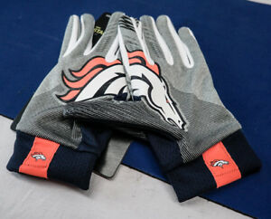 Nike NFL Denver Broncos Stadium Football Gloves Lightweight Adult XXL