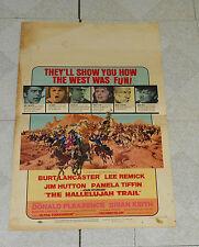 original THE HALLELUJAH TRAIL poster Burt Lancaster Lee Remick Martin Landau