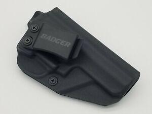 Ruger SP101 IWB Holster Concealment Right Hand Kydex Black Badger Holsters