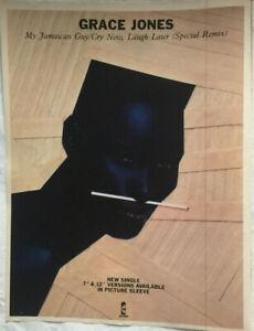 GRACE JONES: MY JAMAICAN GUY Original music press advert from 1983 - 28cm x 21cm