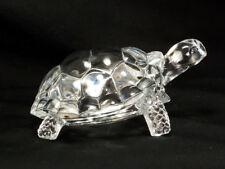 TURTLE RARE VINTAGE CRISTAL D'ARQUES GLASS ORNAMENT CRYSTAL FIGURINE :