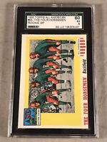 1955 TOPPS ALL AMERICAN #68 THE FOUR HORSEMEN SGC 60 EX 5 HOF RC ROOKIE CARD SP