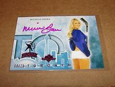 2014 Benchwarmer MICHELLE BAENA Toronto Expo Pink Foil Autograph SP/25 PLAYBOY