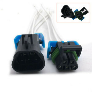Male Female Sealed 5 Pin Headlight Assembly Pigtail Connector For GM Pontiac G6