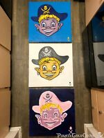 (3) Treasure Paintings JR Bissell Loot Boy Pirate Artist Gimme the Loot Boyz