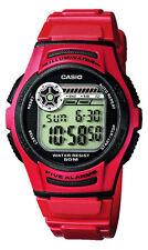 CASIO Armbanduhr Unisex Quarz Digital Kunstoff/Edelstahl 5bar Alarm W-213-4AVES